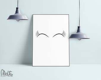eyelushes print poster ,printable Wall Art Print, Instant Download, Printable Art