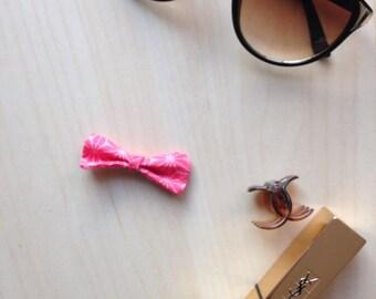 Hair clip mini pink bow