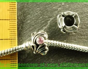Pearl European N413 rhinestone spacer for bracelet charms