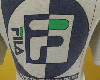 Mega Sale!!!!Vintage FILA Italy T-Shirt Big Logo Spell Out / Vintage Street Wear T- Shirt