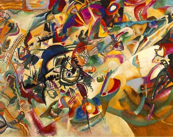 Place mat ORIGINAL semi-rigid AESTHETIC WASHABLE and durable - Wassily Kandinsky - Composition VII.