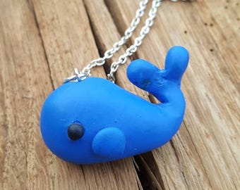 Kawaii whale necklace