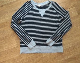 Women's Grey Striped Shirt