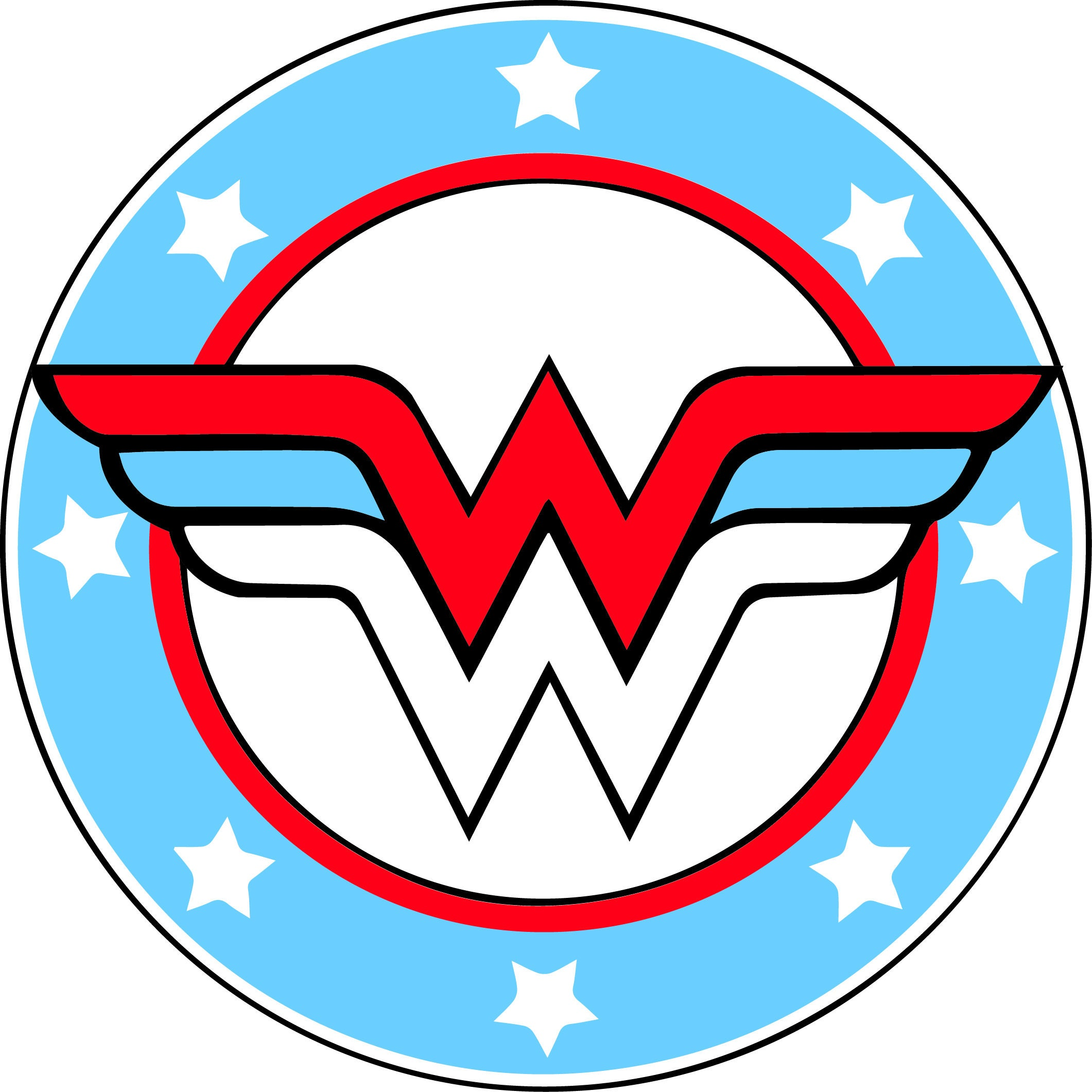 It is a graphic of Adorable Wonder Woman Clip Art