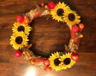 Fall Straw Wreath