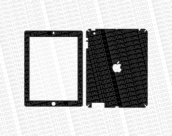 Apple iPad Gen 4 - Skin Cut Template  - Templates for cutting or machining - Digital Download - Plotter, CNC, Laser Cutter - SVG