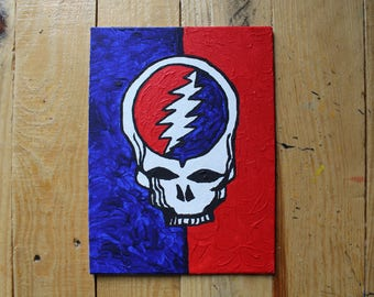 Steal Your Face, Acrylic on Canvas.