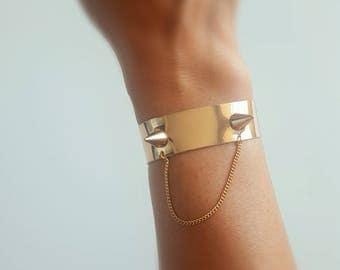 Rose Gold Punk Bracelet