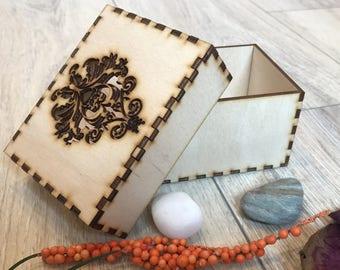 Wooden Box Storage Scrapbooking Embellishment Rustik Wedding Gift Decoration