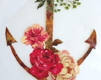 Fusible anchor and flower patches