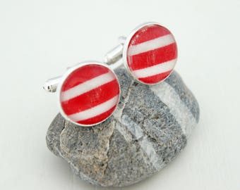 RED - BM006 SAILOR CUFFLINKS