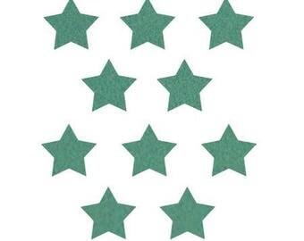 10 stars hot-melt 15x15mm turquoise Velvet