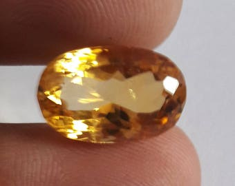 1 Piece, 100% Natural Citrine Oval Shape Faceted cut, Citrine Faceted Oval Cut, Loose Gemstone Beads, 17x11mm Size