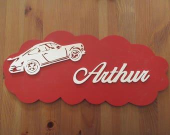 customizable with porsche red door plaque