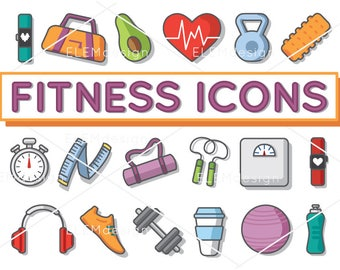 18 Health and Fitness Clip Art Illustrations