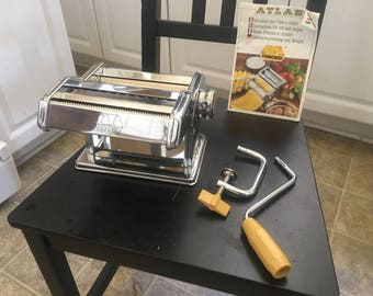 """Vintage Atlas Marcato Deluxe Model 150mm Pasta Making Machine Made ITALY   FREE SHIPPING """".01"""""""