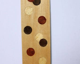 Marquetry bookmarks / bookmarks in precious woods
