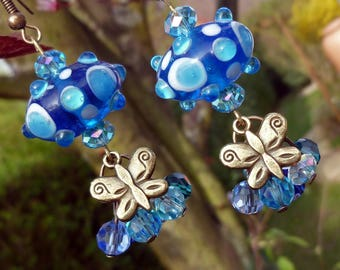 Earrings - Bronze - under blue sky...