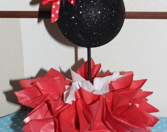 Minnie Mouse inspired Centerpieces!! Red and white Minnie Mouse