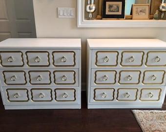 Pair of vintage Dorothy Draper Dressers