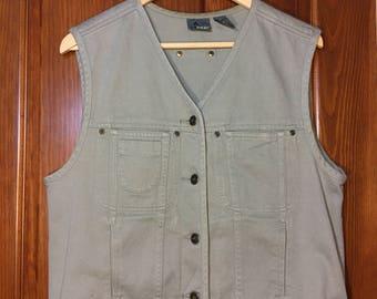 Vintage 90's Lizwear Womens Denim Vest M