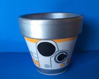 Star Wars BB8 Inspired Terra Cotta Pot