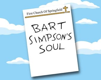 Bart Simpsons Soul - The Simpsons Art Print A5