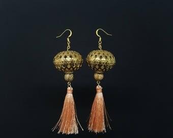 ANAIS salmon Bohemian earrings