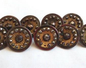 Antique Cut Steels Button Lot, Matching Set, Sewing, Victorian