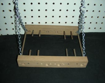Led cob, heatsink, fan wooden hanging mount. Diy lighting array