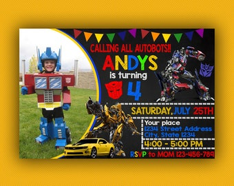 Transformers Birthday Invitation, Transformers Birthday, Transformers Birthday Invitation Digital, Transformer Birthday Party, Bumble Bee