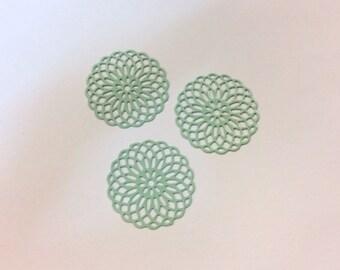 prints 10 spacer rose 20mm Green freshwater jewelry headband