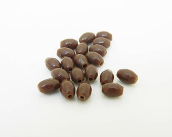 Olive (PM02) 5mm Brown glass bead