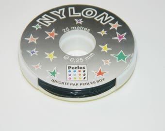 coil wire black 0.25 mm x25m (l436)