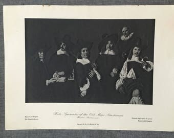 Hals. Governors of the old mens Almshouses. 1920's antique print