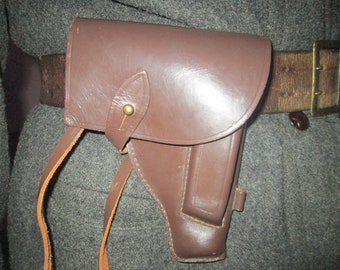 Vintage holster, Leather gun holder, Brown leather holster, Holster for Soviet MAKAROV pistols,Gun case, Weapon case, Leather case,Gift idea