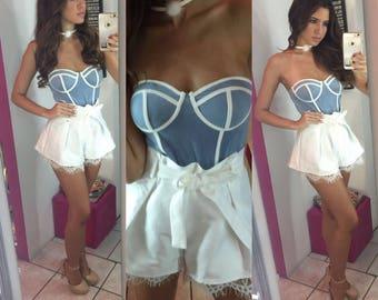 Burlesque Strapless Bodysuit by Auténtica Boutique
