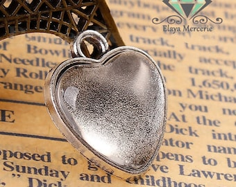 Kit cabochon heart + stand