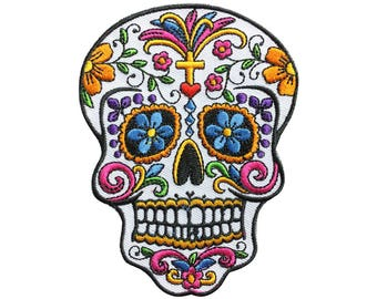 Sugar Skull Patch Rock Patch Back Patch Iron on Patch Sew On Patches