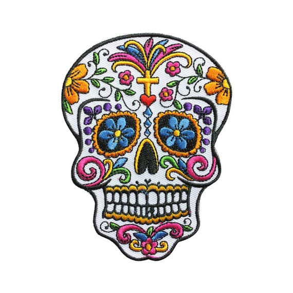 Sugar Skull Patch Rock Patch Back Patch Iron on Patch Sew On