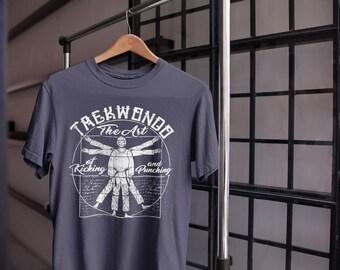 The Art Of Kicking & Punching Vitruvian Taekwondo T-Shirt