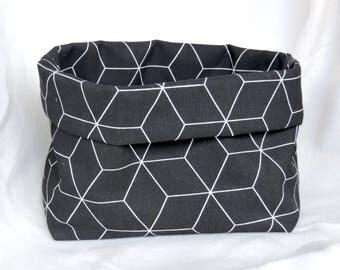 Commode Basket Graphic Black