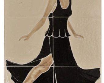 Hand Painted Ceramic Lady