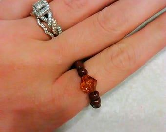 Amber brown ring