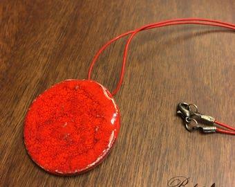 Red ceramic pendant