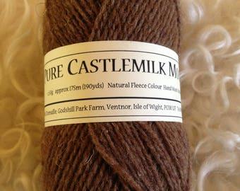 Pure Castlemilk moorit 4ply wool