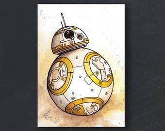 A6 - BB8 - Star Wars print