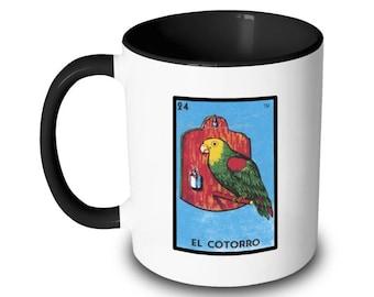 El Cotorro Mug Parrot Bird Loteria Card Mexican Bingo