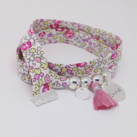 Personalized Bracelet GriGri Liberty Eloise with custom engraving and tassel by Palilo XL