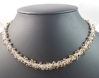 Sterling Silver Beaded Shaggy Loops Necklace
